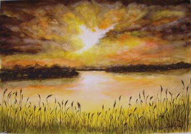 Coucher de soleil sur le lac.jpg